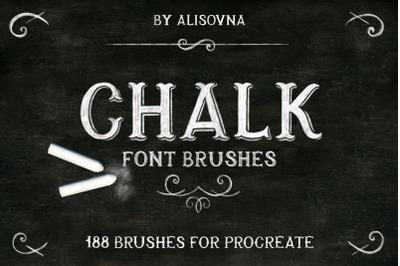 Procreate Chalk font brushes