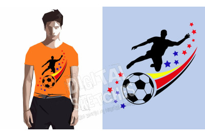 Soccer Player Vector Silhouette Sport Ball Cut File .SVG .DXF