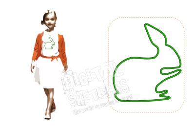 Bunny Applique Design Machine Embroidery Design