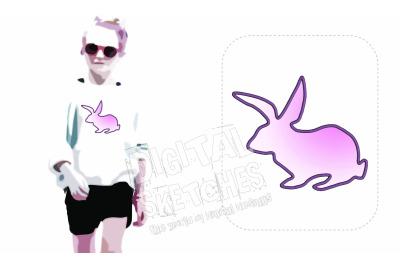 Bunny Applique Design Machine Embroidery Design 4 Sizes