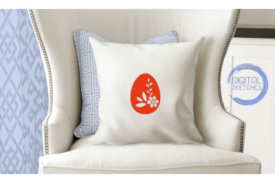 Easter Egg Applique Design Machine Embroidery 3 Sizes