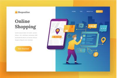 E-commerce landing page illustration