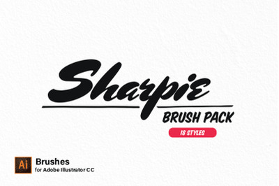 Illustrator Brush Pack - Sharpie Edition | 18 Styles