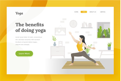 Yoga landing page illustration