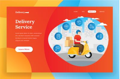 Online delivery - landing page illustration