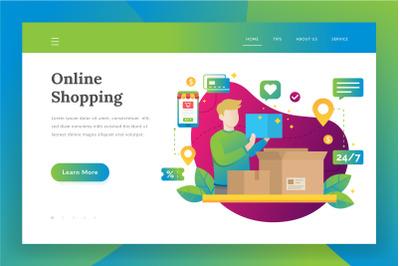 Online shopping - landing page illustration