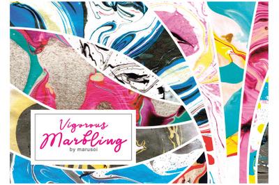 Vigorous Marbling Textures