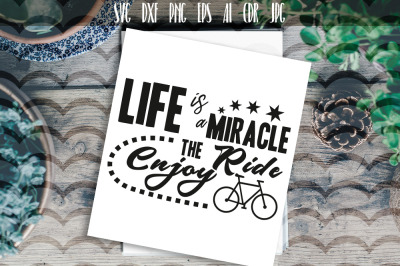 Life is miracle enjoy the ride SVG Typography