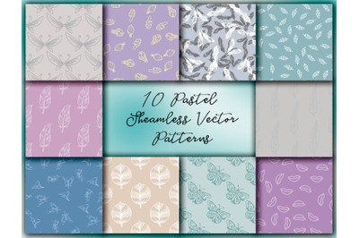 Pastel Sheamless Vector Patterns
