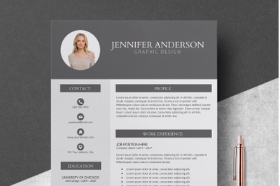 Resume Template / CV Template - Jennifer
