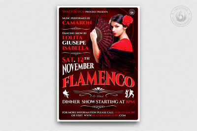 Flamenco Flyer Template V2