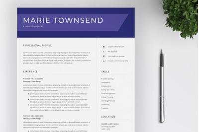 Resume Template / CV / Cover Letter