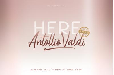 Here Antollio Valdi Font Duo