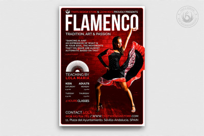 Flamenco Flyer Template V3