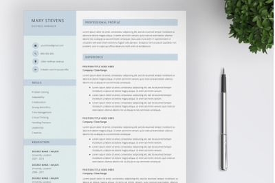 Creative Resume Template and Cover Letter