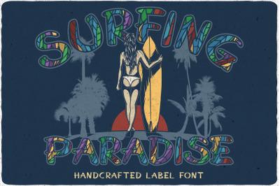 Surfing Paradise font + bonus