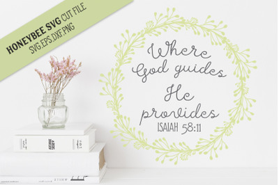 Where God Guides SVG Cut File