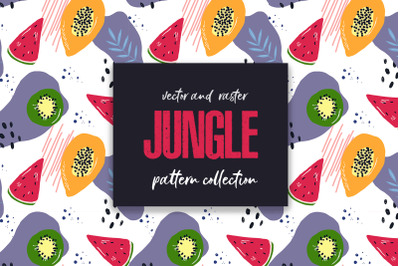 Seamless patterns JUNGLE collection