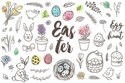 Spring and Easter Doodle Design Kit