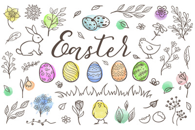 Easter Design Elements and Patterns