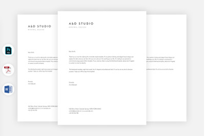 Minimal Simple Letterhead Template