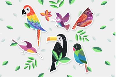 Funny birds set II