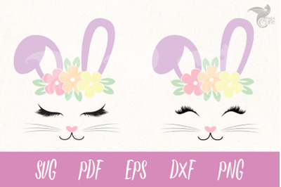 Bunny Face SVG and Cut Files
