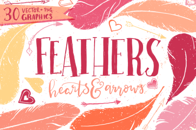 Feathers, Hearts & Arrows