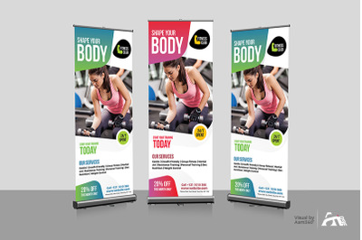Fitness Rollup Banner Template