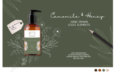 Camomile and Honey logo elements