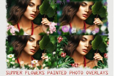 Flower frames photo overlays textures