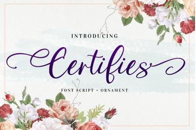 Certifies Script