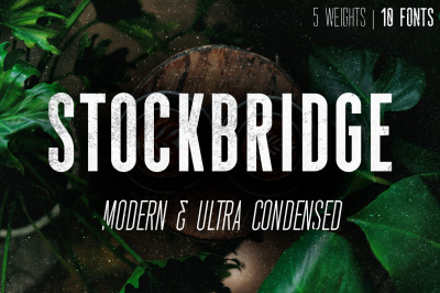 Stockbridge - Ultra Condensed Sans Serif (10 Fonts)