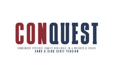 CONQUEST Sans & Slab Serif