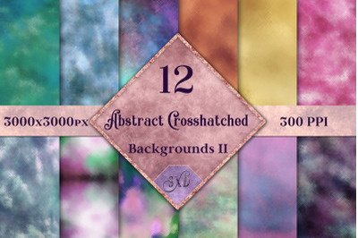 Abstract Crosshatched Backgrounds Vol 2 - 12 Image Textures Set