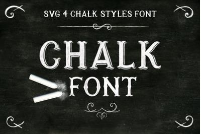 Chalk SVG font