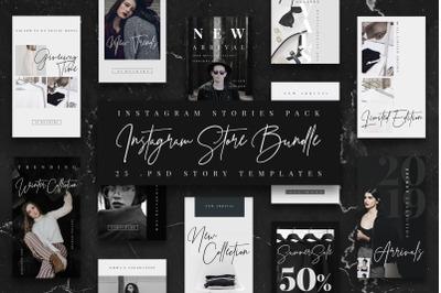 BW Store Instagram Stories Template / Instagram Bundle/ Fashion