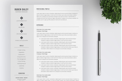 Resume Template an Cover Letter