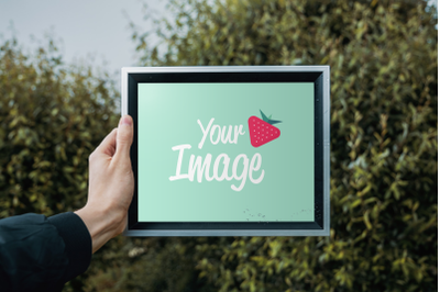Picture Frame Mockup #04 in PSD