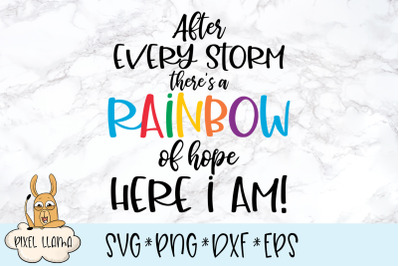 After Every Storm There is a Rainbow of Hope SVG