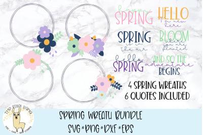 Spring Wreath Bundle SVG