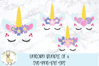 Sleeping Unicorn Bundle SVG