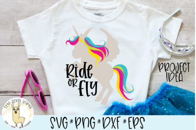 Ride Or Fly Unicorn SVG