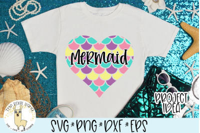 Mermaid Heart SVG