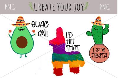 Cinco De Mayo Avocado Cactus Pinata | PNG