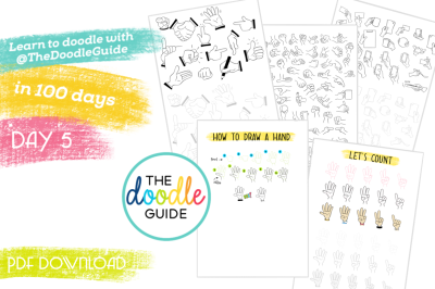 Doodle Sheets - Hands (005/100)