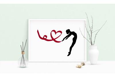 Machine Embroidery Design Dancer Ballet Prima Ballerina Art Wall Decor