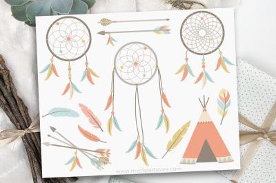 Tribal Dreamcatchers / American Indian Vector Clipart