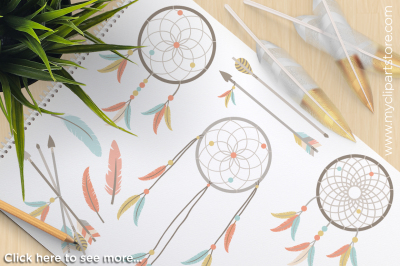 Tribal Dreamcatchers / American Indian Vector Clipart