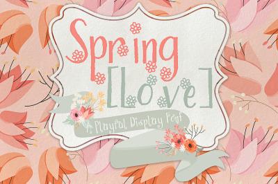 Spring Love Display Font